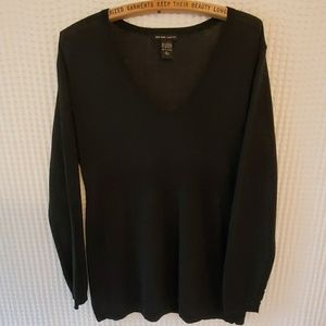 New York & Co Black V-Neck Sweater